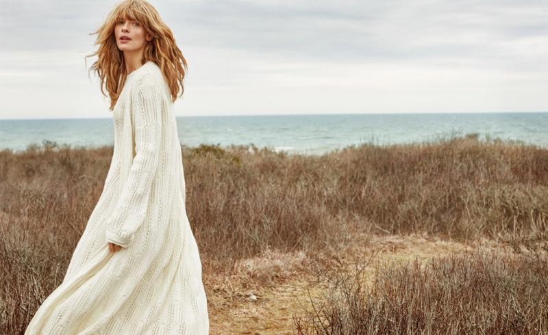 Julia Stegner stars in Stefanel's fall-winter 2016 campaign