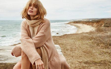 Julia Stegner Models Cozy Knits in Stefanel's Fall Ads