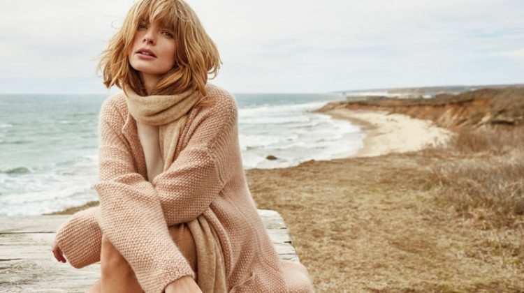 Julia Stegner Models Cozy Knits in Stefanel's Fall Ads