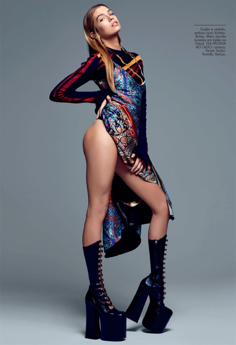 Stella Maxwell Heats Up The Pages Of Elle Brazil Fashion