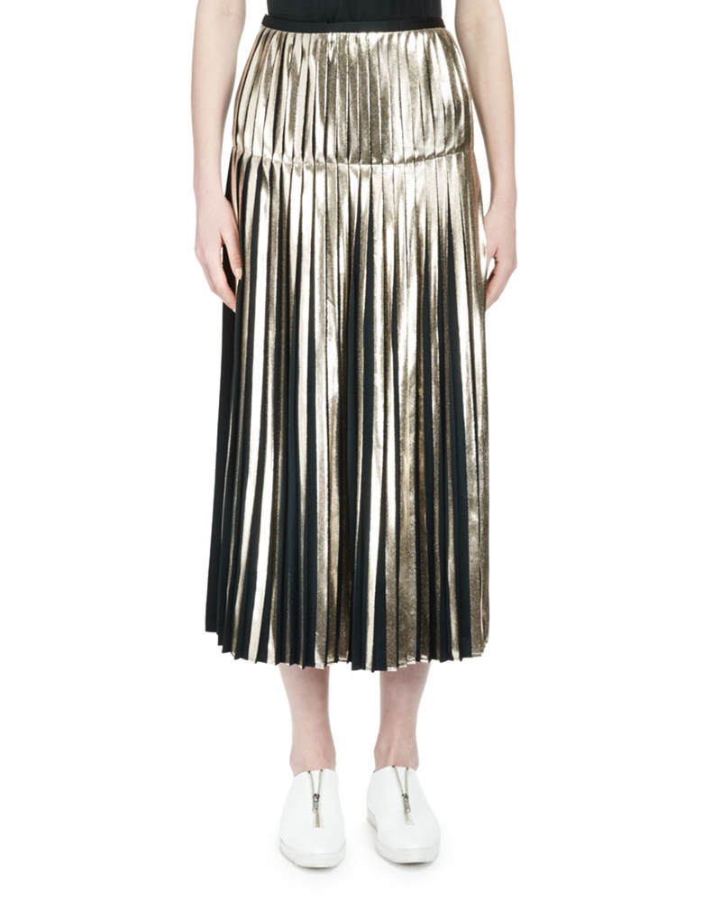 Stella McCartney Metallic Pleated Mini Skirt