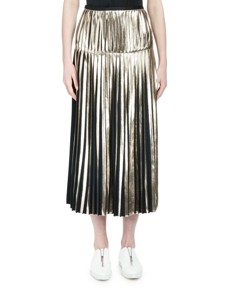 Stella McCartney Metallic Pleated Mini Skirt