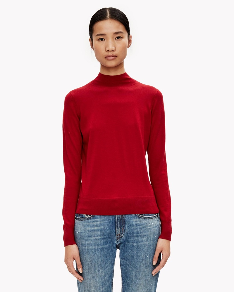 Theory Classic Merino Mock Neck