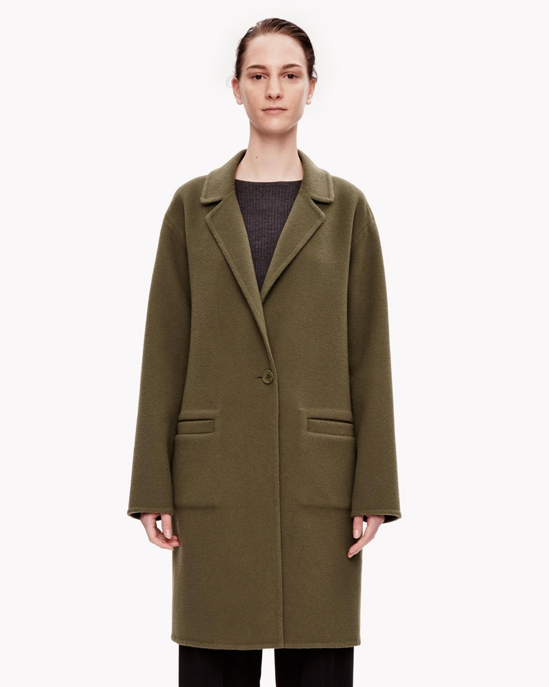 Theory Double Face Wool Cashmere Unconstructed Coat