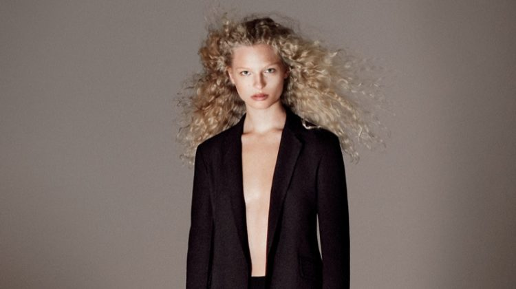 Fredderike Sofie Models Minimal Style in Theory's Fall Campaign