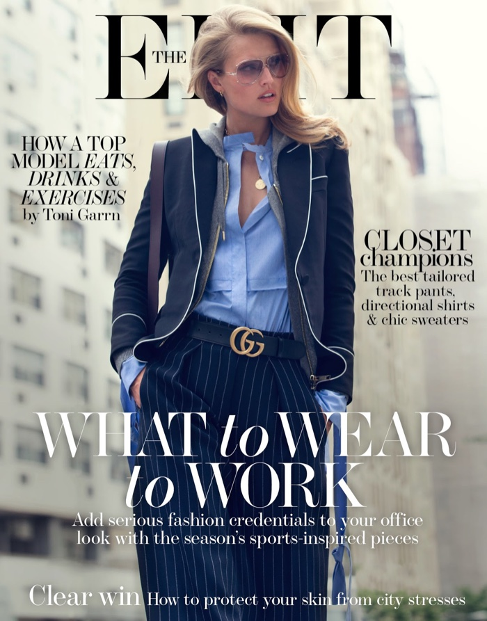 Toni Garrn on The Edit August 5th, 2016 Cover