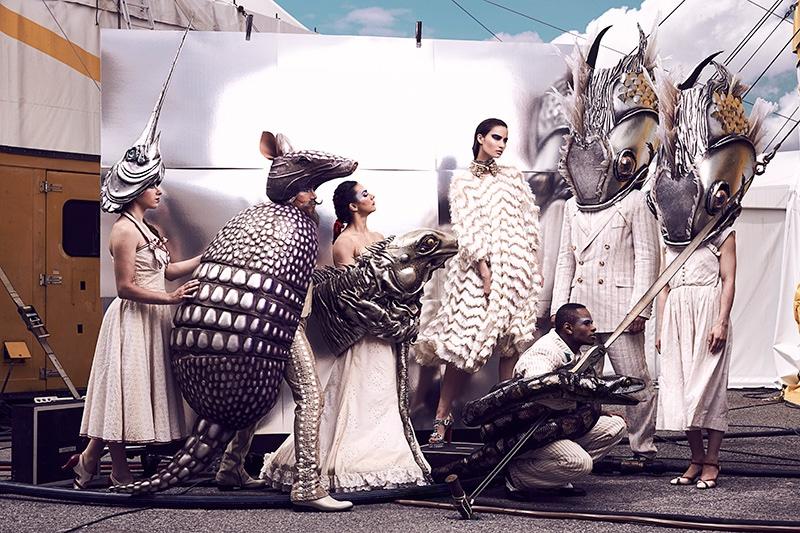 Mackenzie models Dolce & Gabbana dress and necklace