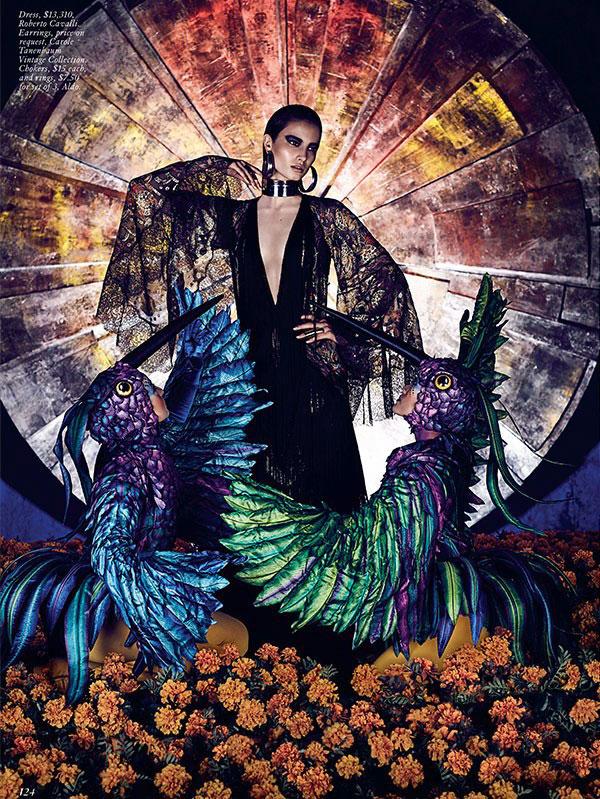 Mackenzie Hamilton Models Circus Style for FASHION