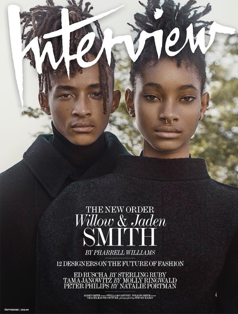 Willow and Jaden Smith on Interview Magazine September 2016 Cover