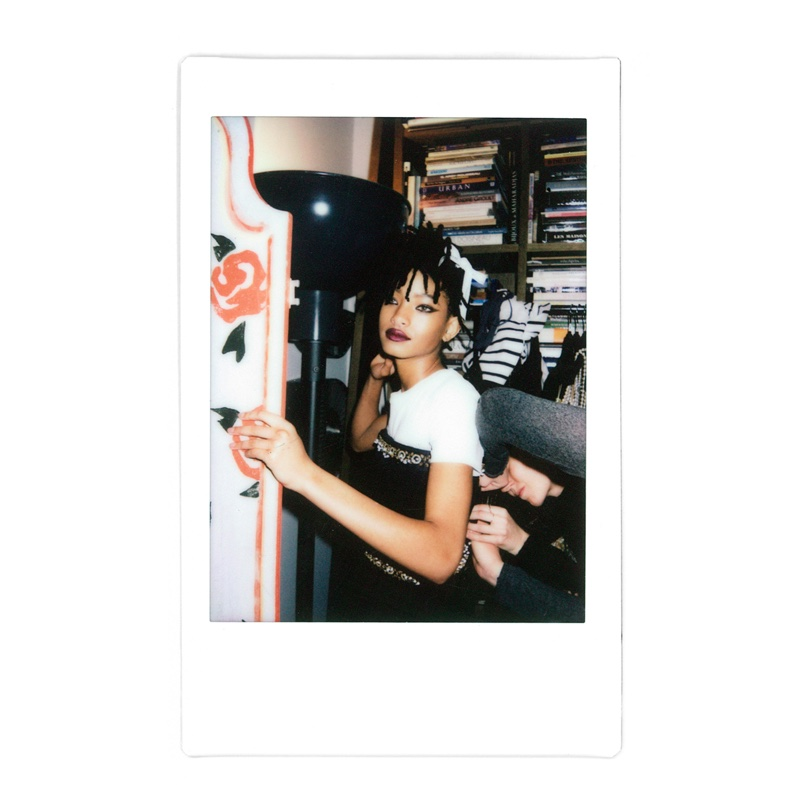 Willow Smith behind the scenes at Chanel Eyewear shoot