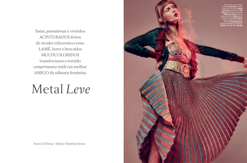 Yana Trufanova stars in Vogue Brazil's September issue