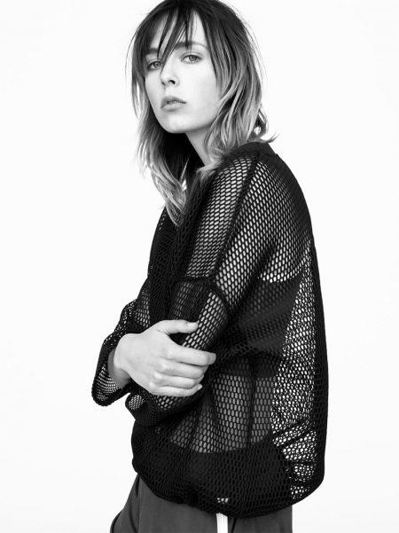Edie Campbell Models Zara Sport's Athletic Glam Fashions