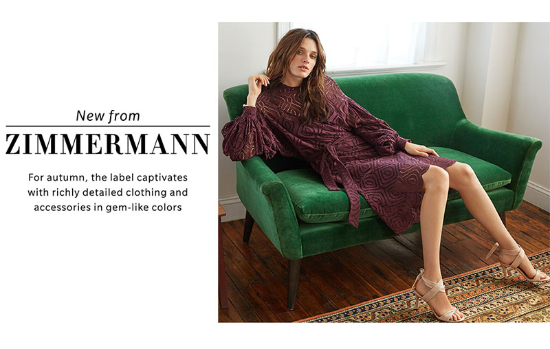 Zimmermann Karmic Embroidered Dress and Ankle Tie Heels