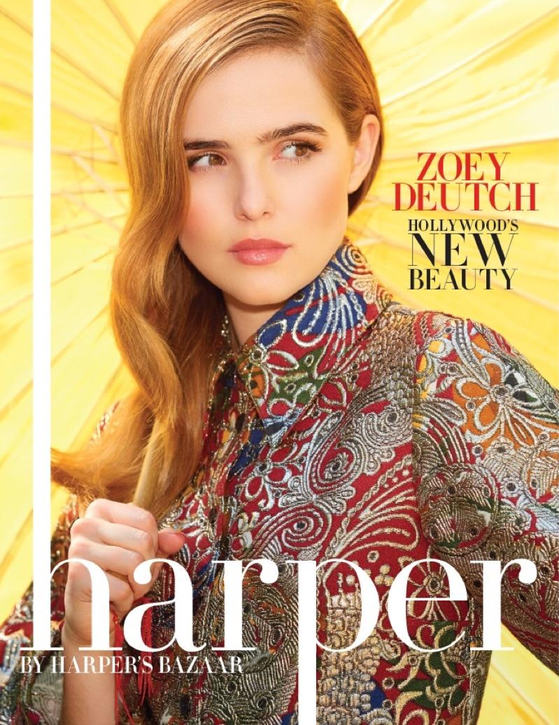 Zoey Deutch on harper by Harper's BAZAAR September 2016 Cover