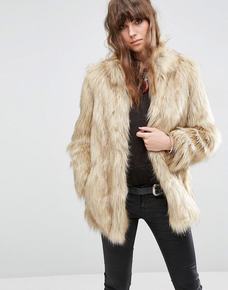 ASOS Vintage Faux Fur Jacket
