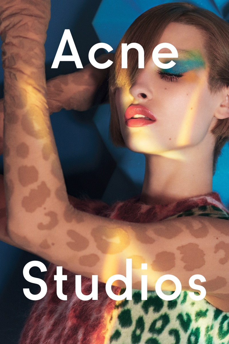 Acne Studios features spotted leopard prints in fall 2016 campaign