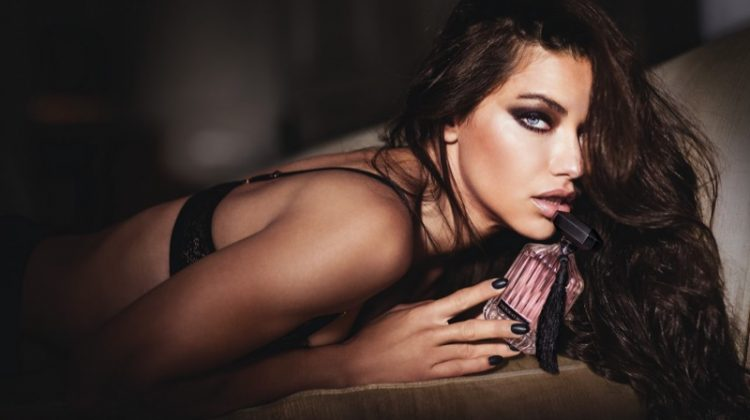 Adriana Lima Smolders for Victoria's Secret 'Intense' Fragrance