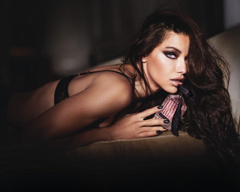 Adriana Lima for Victoria's Secre Intense perfume campaign