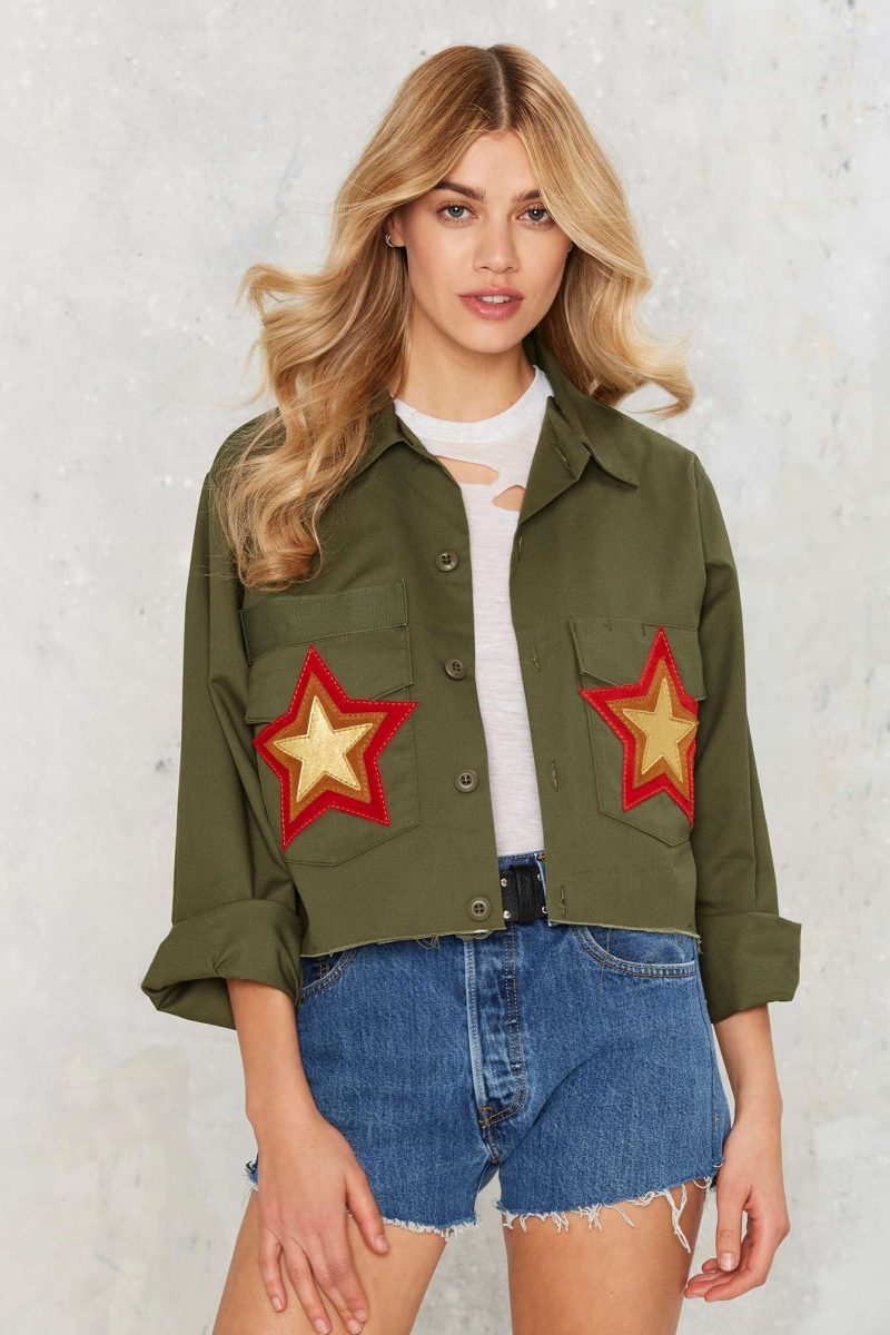 After Party by Nasty Gal As  You were Army Jacket