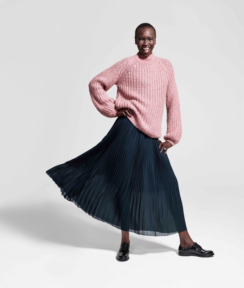 Alek Wek stars in Lindex's Fall Fashion Heroes 2016 campaign