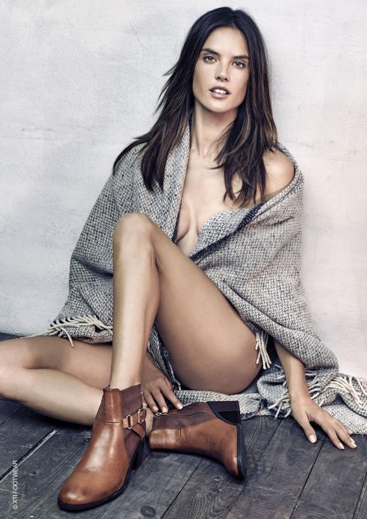 Alessandra Ambrosio stars in XTI Shoes' fall 2016 campaign