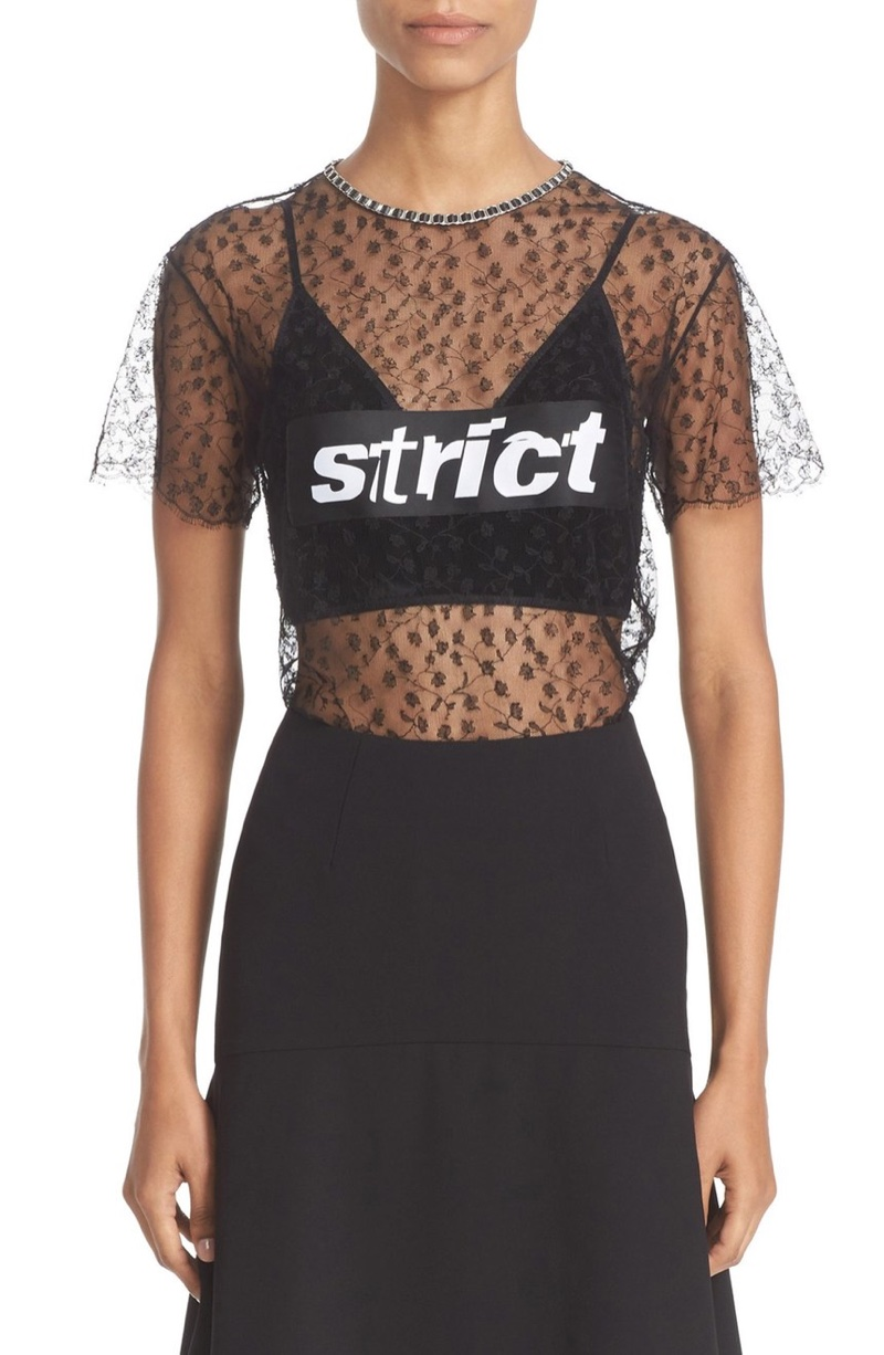 Alexander Wang Strict Lace T-Shirt