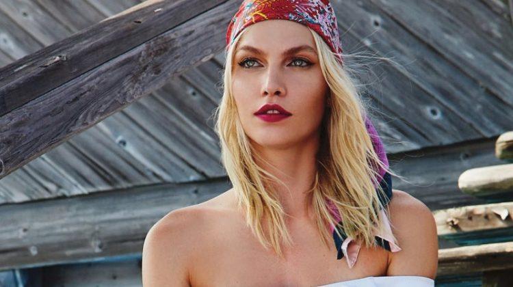 Aline Weber Sports Bohemian Beach Fashion for Vogue Mexico