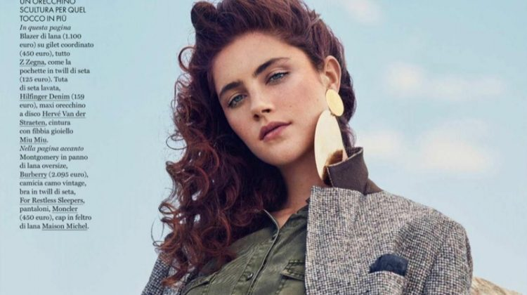 Anna Speckhart Embraces Outdoor Fashion in ELLE Italy