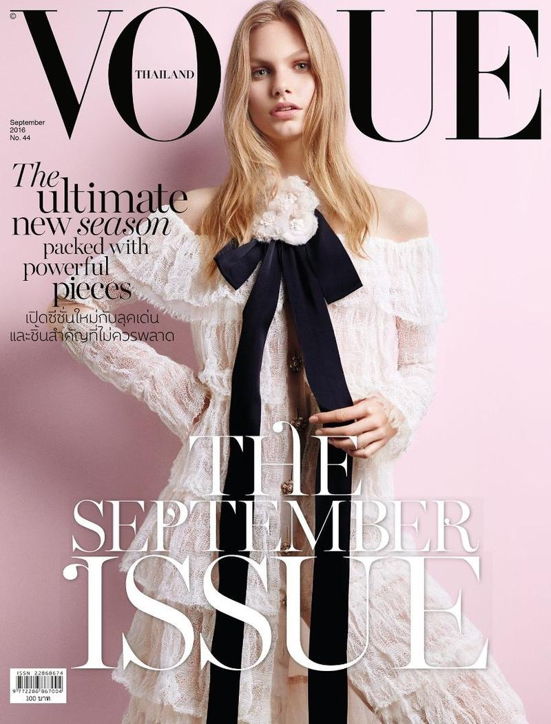 Annika Krijt on Vogue Thailand September 2016 Cover