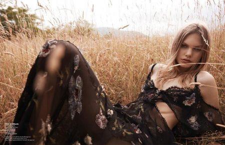 Annika Krijt is a Natural Beauty in Vogue Thailand Editorial