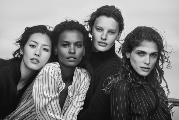 Liu Wen, Liya Kebede, Amanda Murphy and Elisa Sednaoui star in Giorgio Armani's New Normal fall-winter 2016 campaign