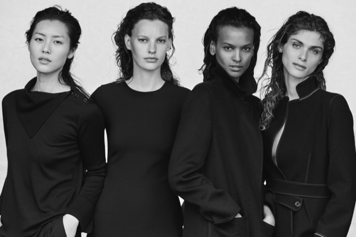 Peter Lindbergh photographs Giorgio Armani's fall-winter 2016 campaign