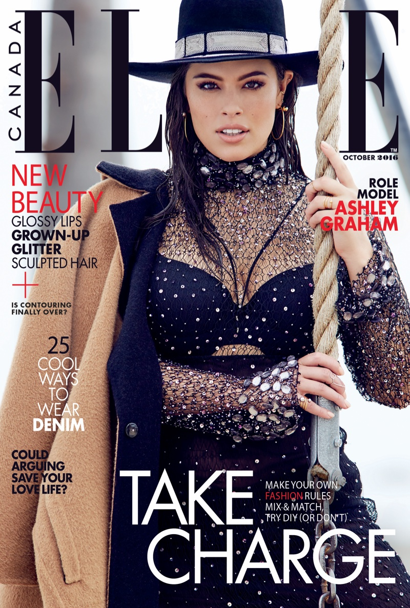 Ashley Graham on ELLE Canada October 2016 Cover