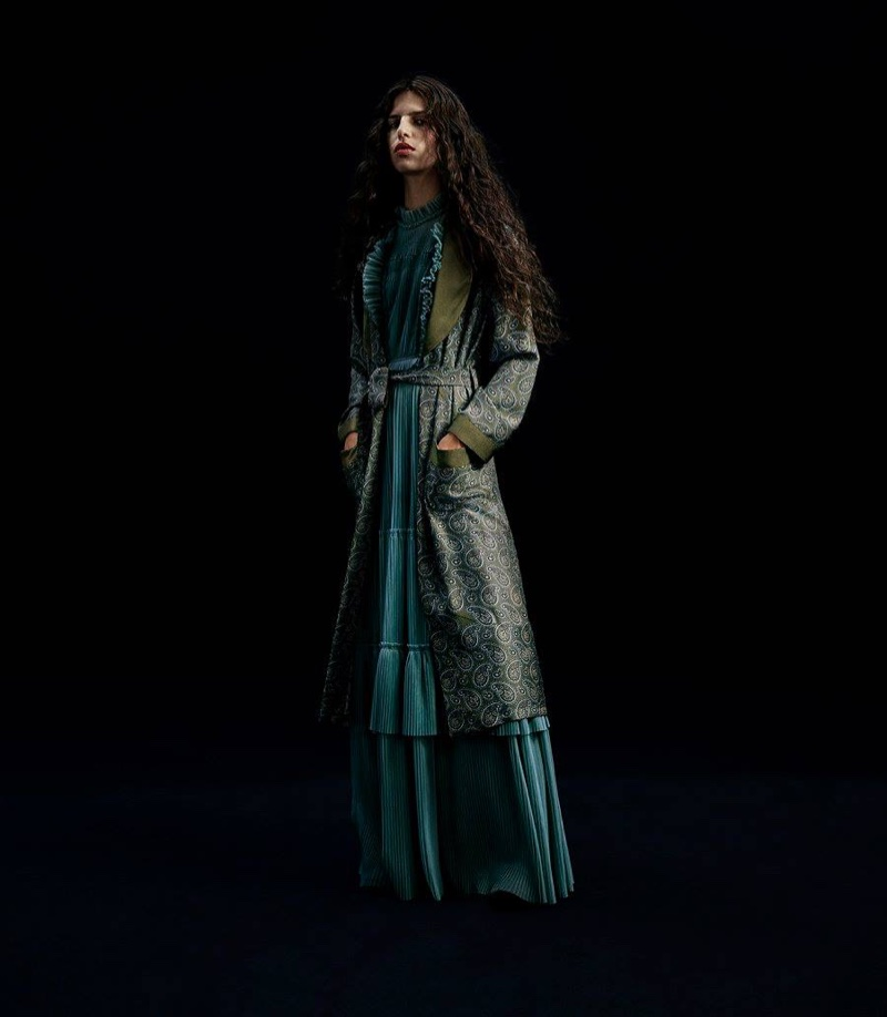 Burberry x Barneys New York Silk Dressing Robe and Tulle Gown