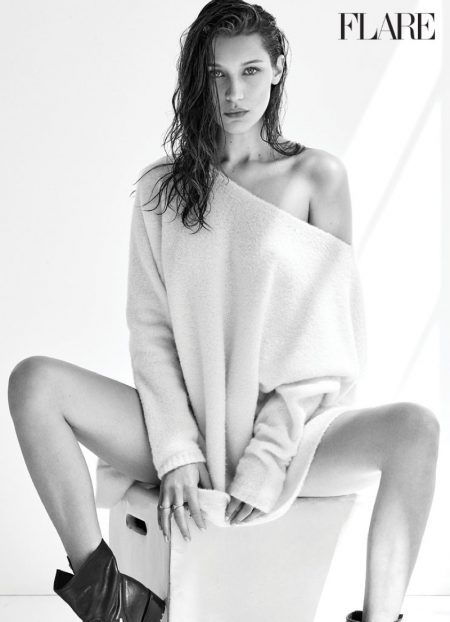 Bella Hadid Smolders in Calvin Klein for FLARE Magazine