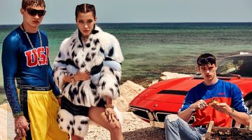 Bella Hadid Takes the Fall Collections to the Beach for Vogue Japan Spread