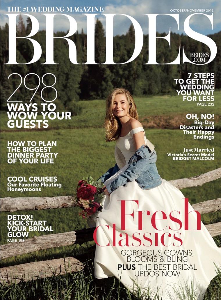 Bridget Malcolm on Brides Magazine October-November 2016 Cover