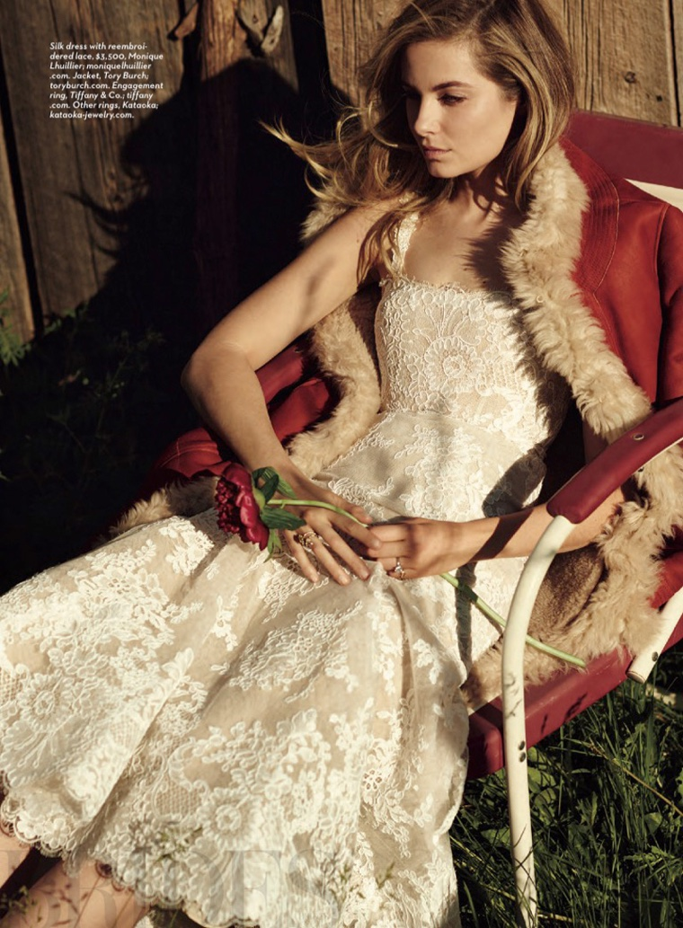 Newlywed Bridget Malcolm Stuns in Brides Magazine Spread