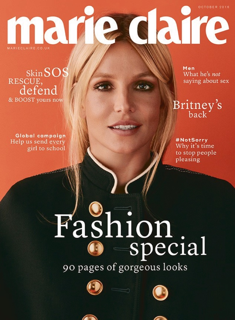 Britney Spears on Marie Claire UK October 2016 Cover