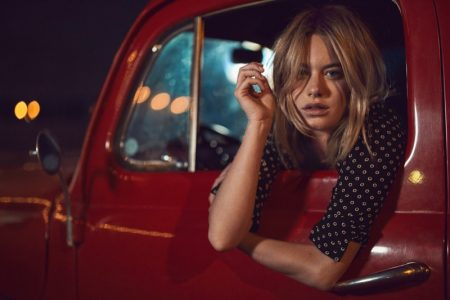 Camille Rowe Travels Through Texas for Mango Journeys Campaign