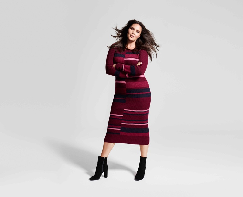 Candice Huffine stars in Lindex's Fall Fashion Heroes 2016 campaign