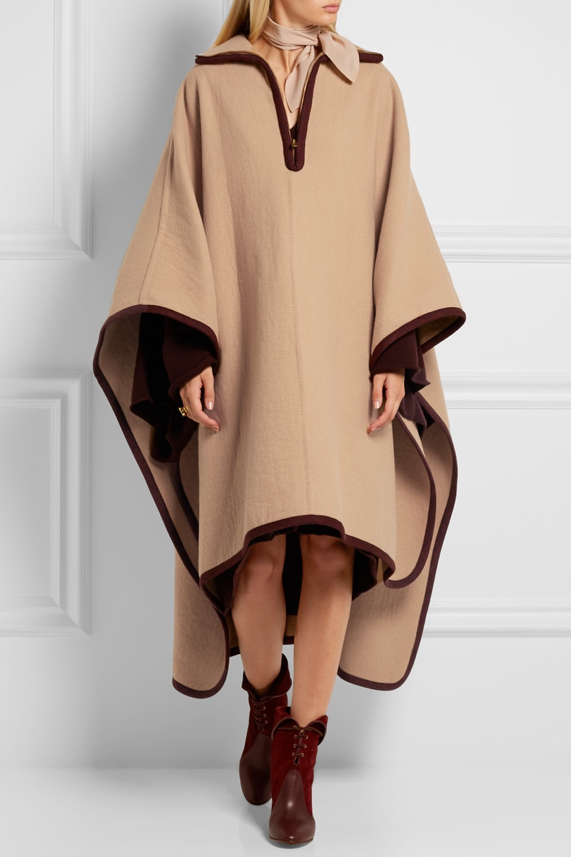 Chloe Wool and Cashmere Blend Cape