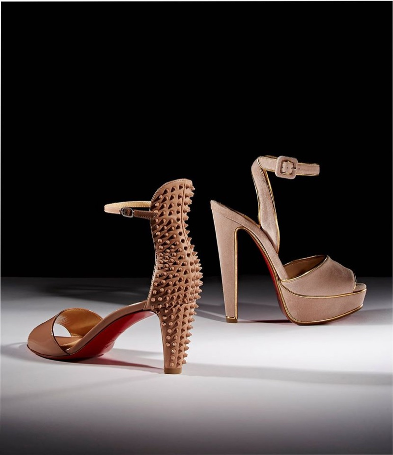 Christian Louboutin Trezanita Sandals and Louloudance Suede Platform Sandals (Left to Right)