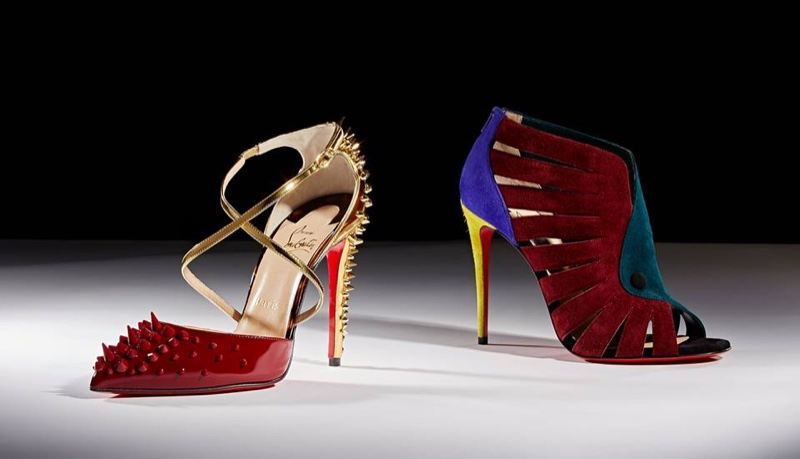 Christian Louboutin Goldocross Pumps and Toot Mignonne Sandals (Left to Right)
