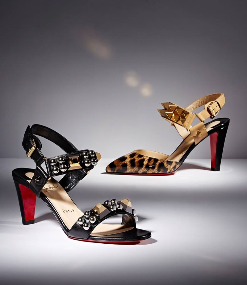 Christian Louboutin Pyrabubble Sandals and Ziggoo Sandals (Left to Right)