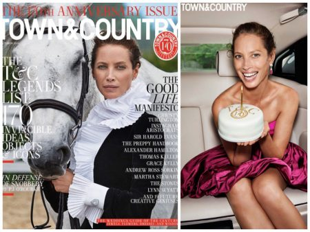 Christy Turlington Graces Town & Country, Says She'll Never Get Plastic Surgery