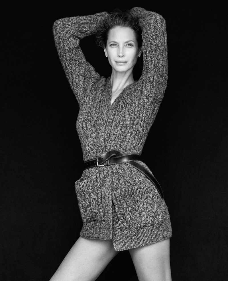 Christy Turlington tells the magazine why she will never get plastic surgery