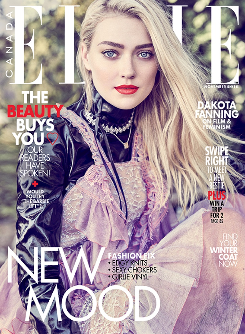 Dakota Fanning on ELLE Canada November 2016 Cover