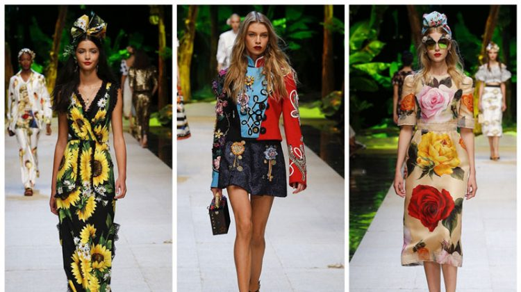 Dolce & Gabbana Head to the Tropics for Spring 2017