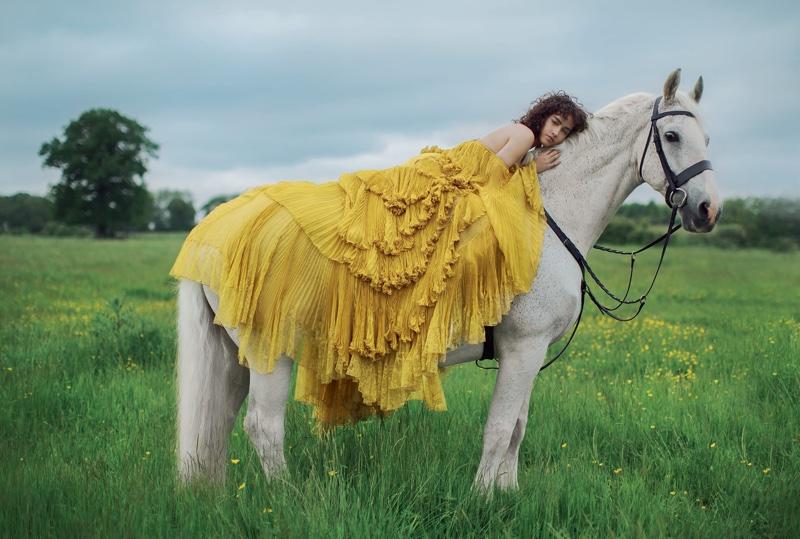 Allana Arrington stars in Harper's Bazaar UK's October issue